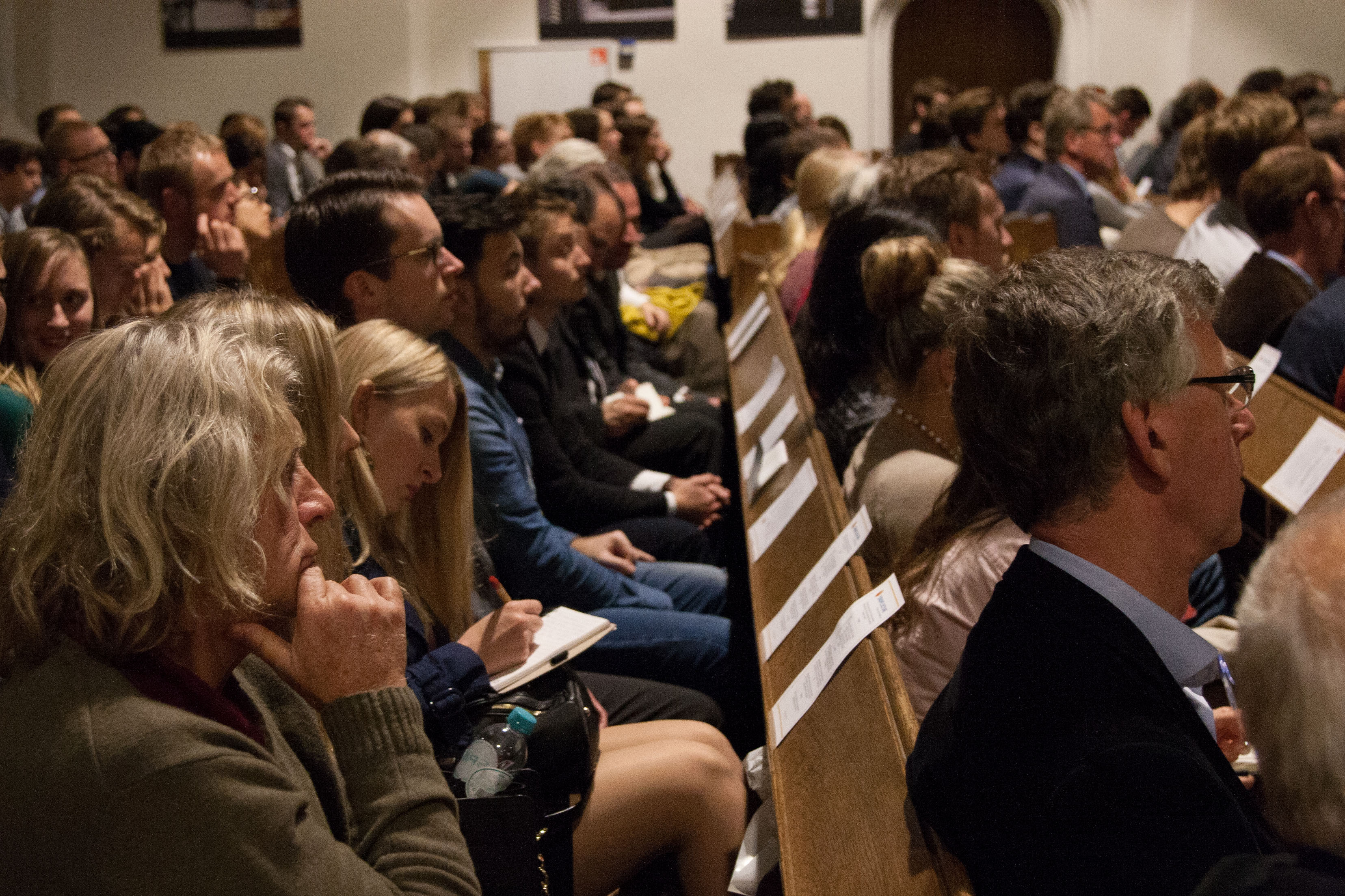 Europe Lecture 2014: audience at the Kloosterkerk