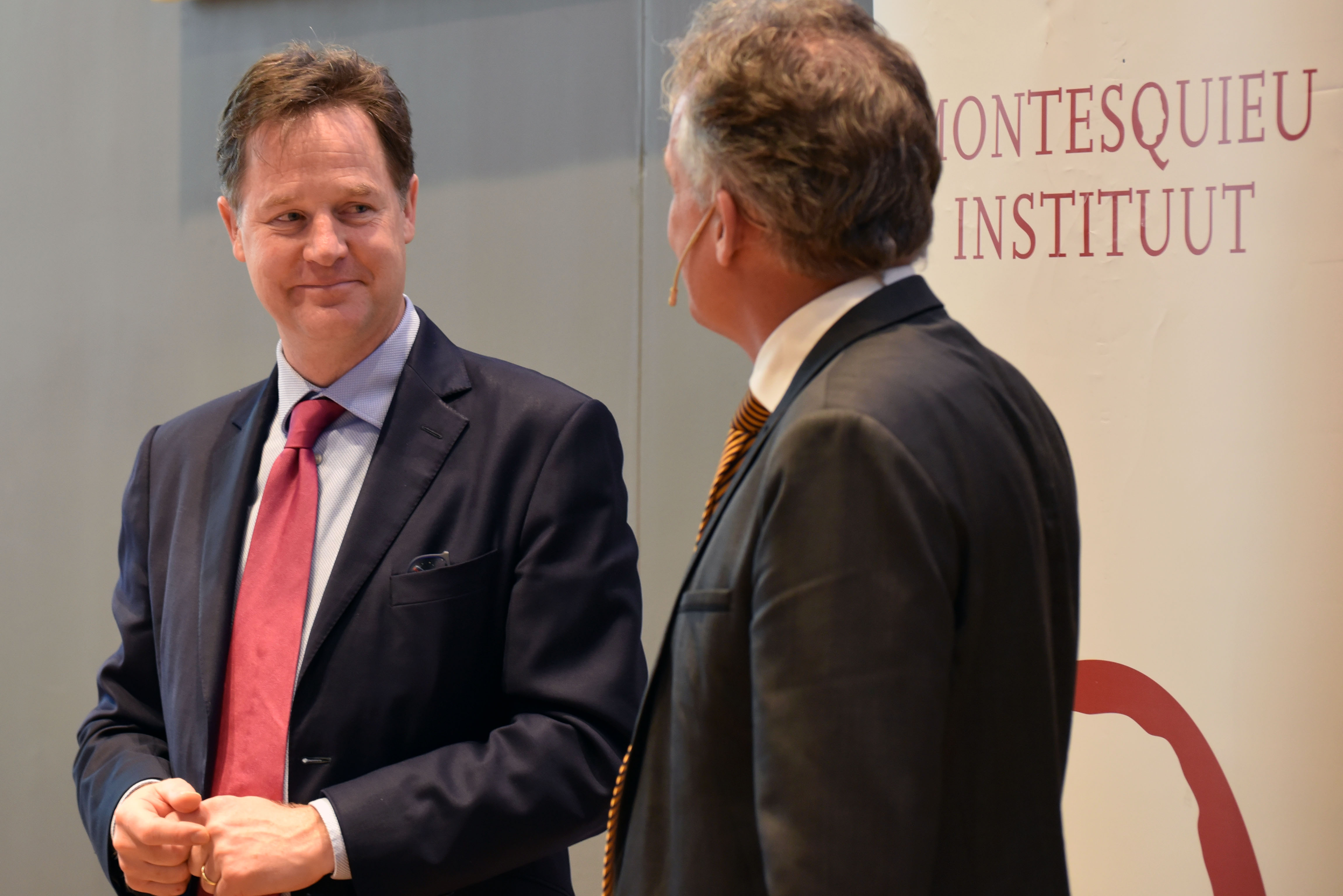 Nick Clegg and Bernard Steunenberg